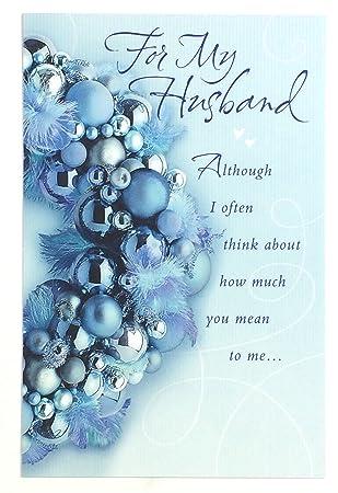 Amazon.com: Tarjeta de Navidad para marido (for my wonderful ...