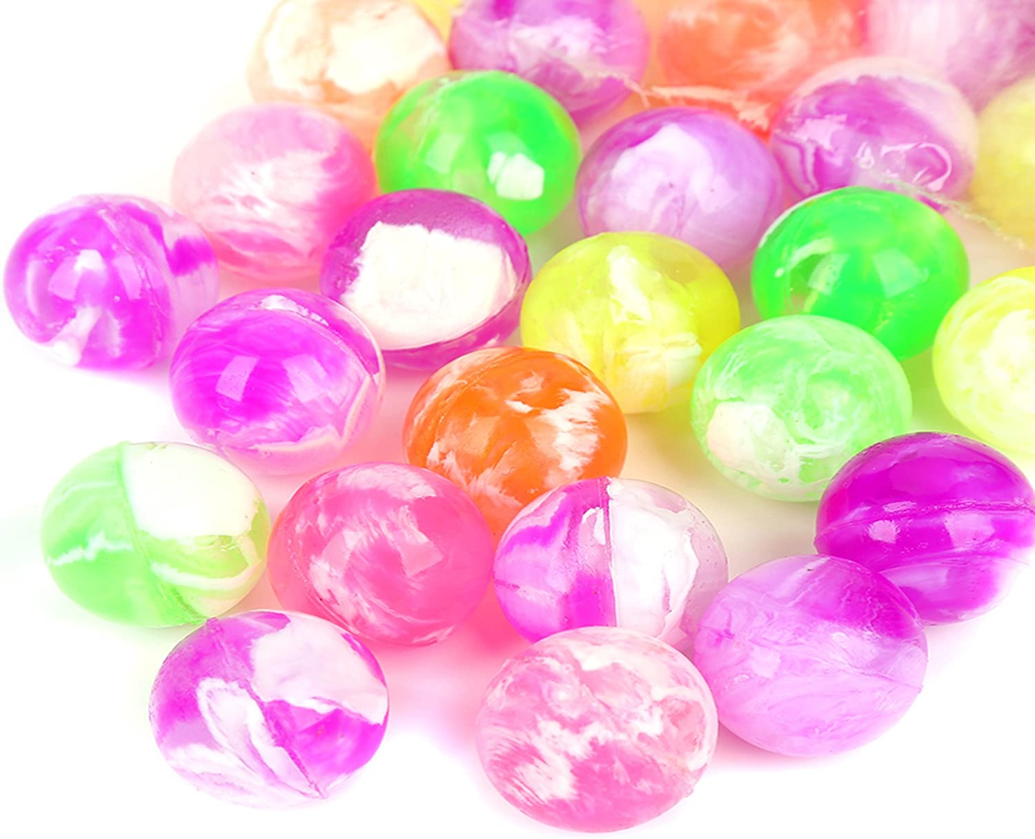 0.75 Inch Bouncy Balls Bulk Party Favors for Kids Fun Central 48 Pieces Assorted Neon Colors