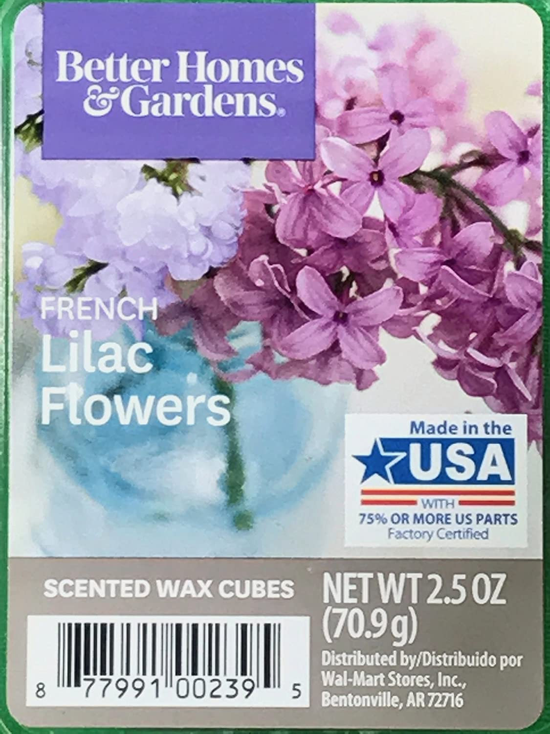Amazon Better Homes And Gardens French Lilac Flowers Wax Cubes