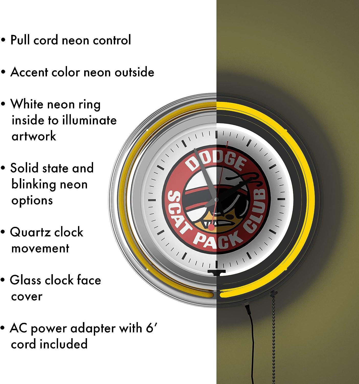 Neon clock Scat Pack Super Bee Hellcat challenger Charger 8SCATB Neonetics NEW