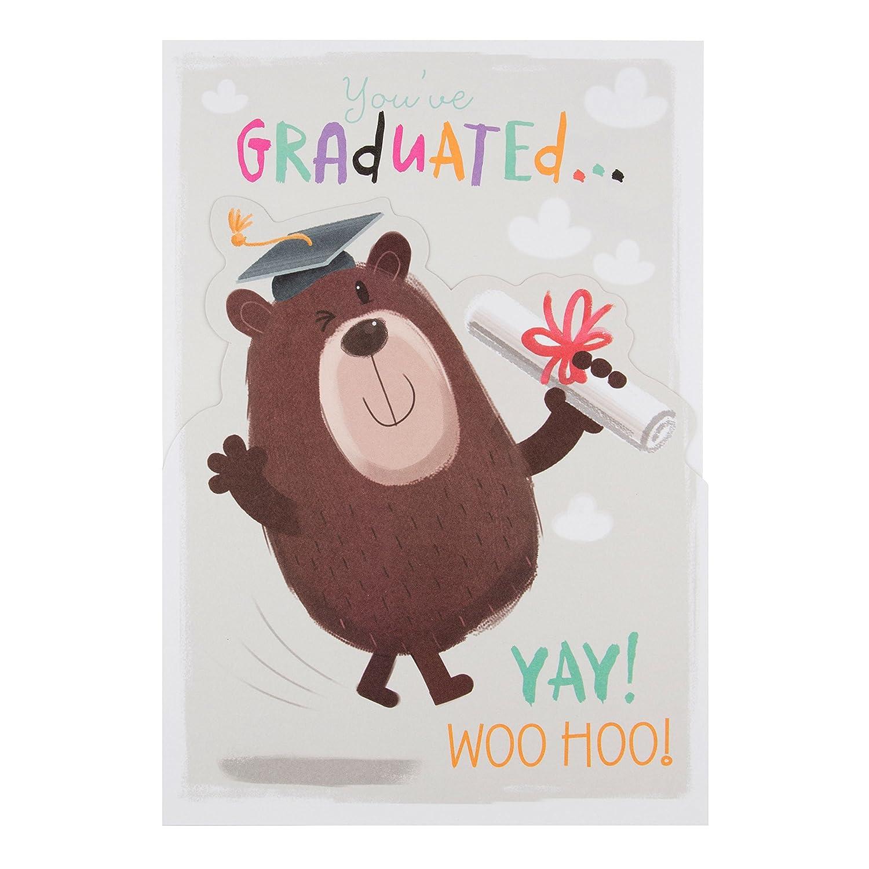 Hallmark/-/Biglietto laurea Congrats /-/Medio Woohoo versione inglese