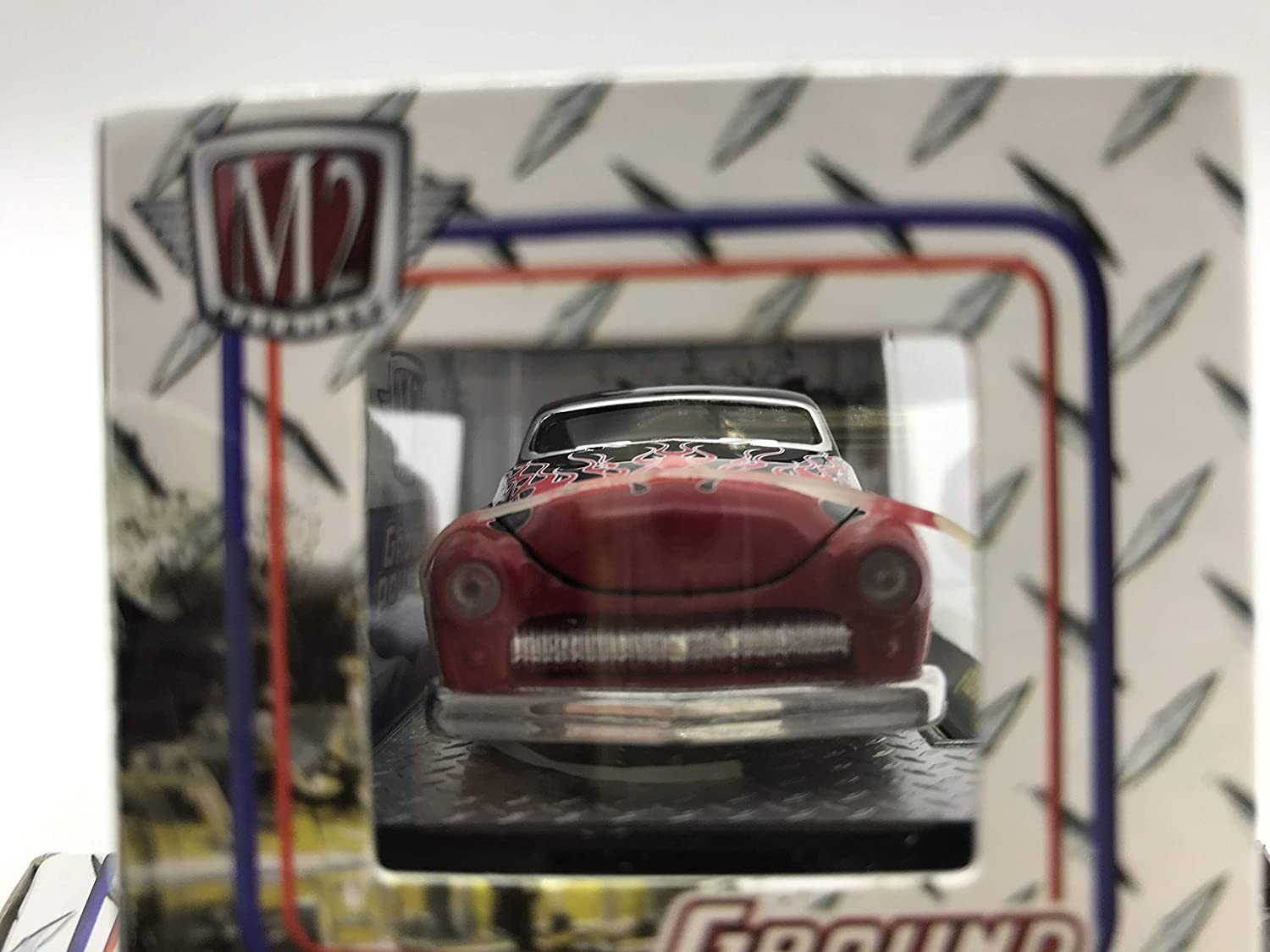 M2 Machines Ground Pounders 1949 Mercury 1//64 12-08 Black//Red Details Like NO Other Over 42 Parts