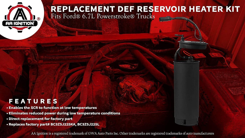 Fits Ford 6.7L Replaces# BC3Z5J225KA Diesel Exhaust Fluid Reservoir Heater