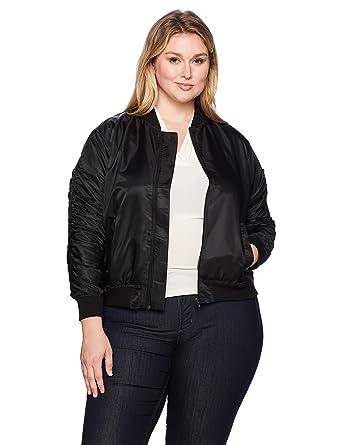 029d06c72e4 Amazon.com  RACHEL Rachel Roy Women s Plus Size Nylon Bomber Jacket   Clothing