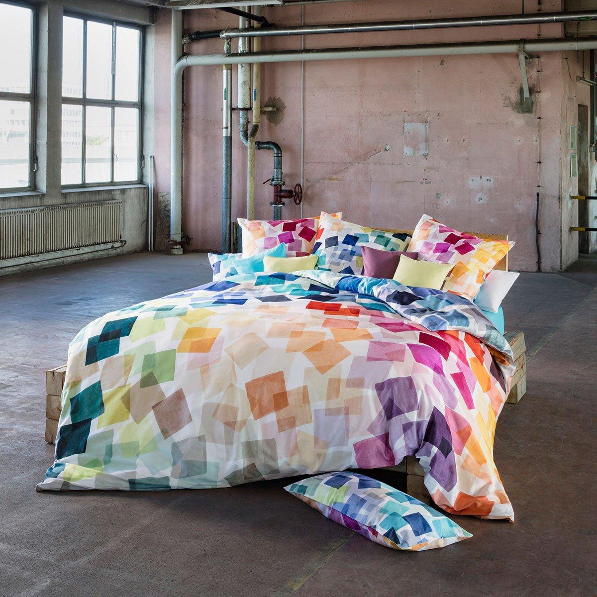 Estella Mako-Satin Bettwäsche Puzzle multicolor 280x240 cm + 2x 80x80 cm