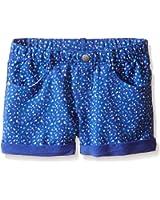 Gymboree Girls' Blue Print Knit Short