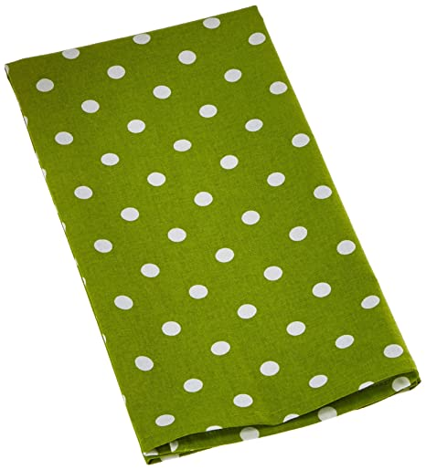 Dunroven House Printed Tea Towel 20 Inch X 28 Inch Lime Green,