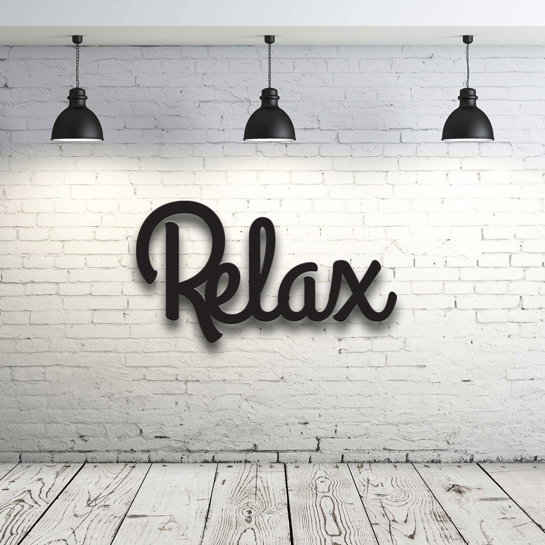Holzschriftzug mit Spruch Relax Dekoration Wohnzimmer Deko ...