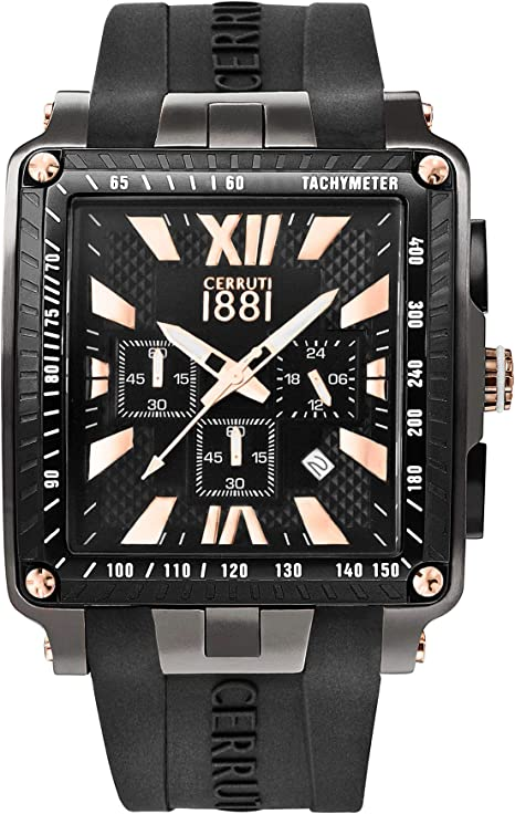 Orologio da uomo cerruti 1881 odissea master – cronografo – quadrante nero 45 mm – 3 atm CRA012SUB02BKP