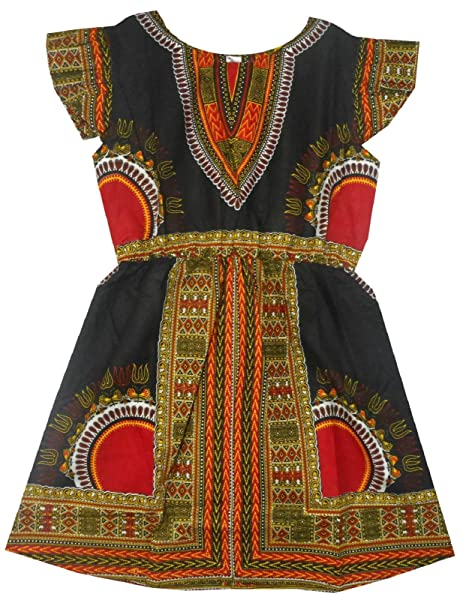 Amazon.com: decoraapparel las niñas Dashiki Caftan corto ...
