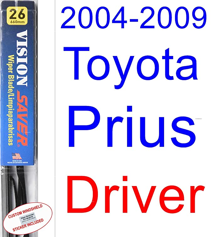 Amazon.com: 2004-2009 Toyota Prius Wiper Blade (Rear) (Saver Automotive Products-Vision Saver) (2005,2006,2007,2008): Automotive
