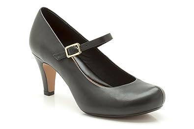 Clarks Chorus Jazz, Damen Peep Toes , schwarz ... schwarz Leder ... schwarz e040d0