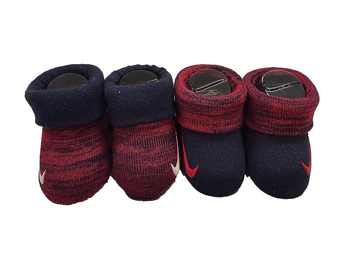 Nike Girls Newborn Infant Booties 2-Pair Pack: Amazon.es: Ropa y ...