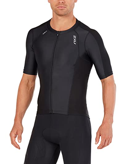 f597e5e963b Amazon.com   2XU Mens Compression Sleeved Tri Top   Sports   Outdoors