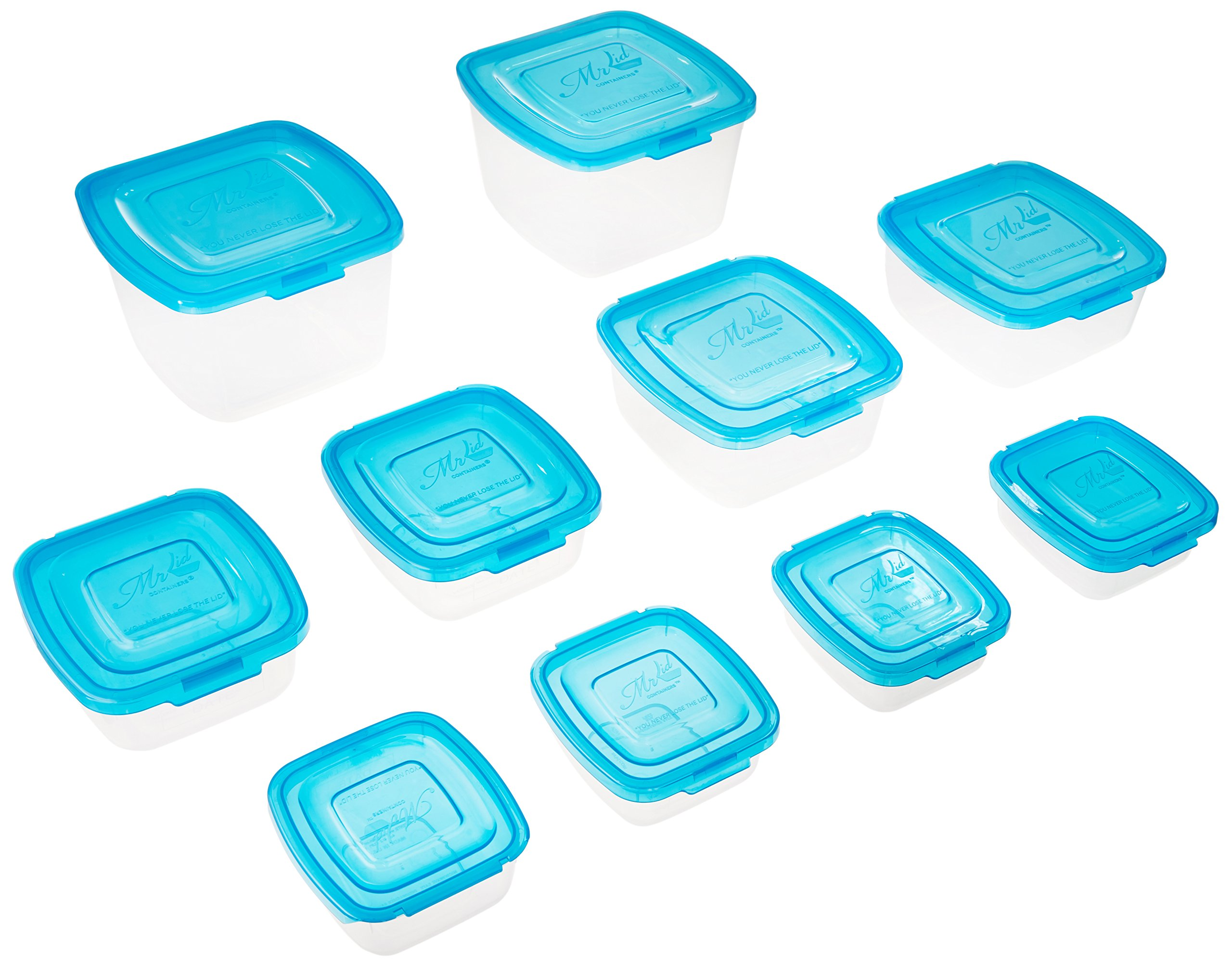 Norman Direct 501 10 Piece Mr. Lid Containers