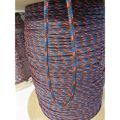 "RT 3/16"" x 50' of Brown with Orang Blue Trace Cumping Hunting Fishing Rope: Garden & Outdoor"