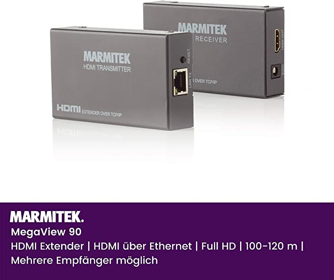 Marmitek Megaview 90 Hdmi Extender über 1 Cat 5e Elektronik