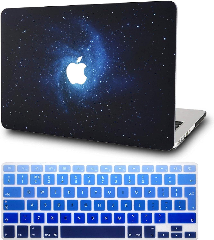 KECC MacBook Air 13 Pulgadas Funda Dura Case w/ EU Cubierta Teclado MacBook Air 13.3 Ultra Delgado Plástico {A1466/A1369}(Azul): Amazon.es: Electrónica