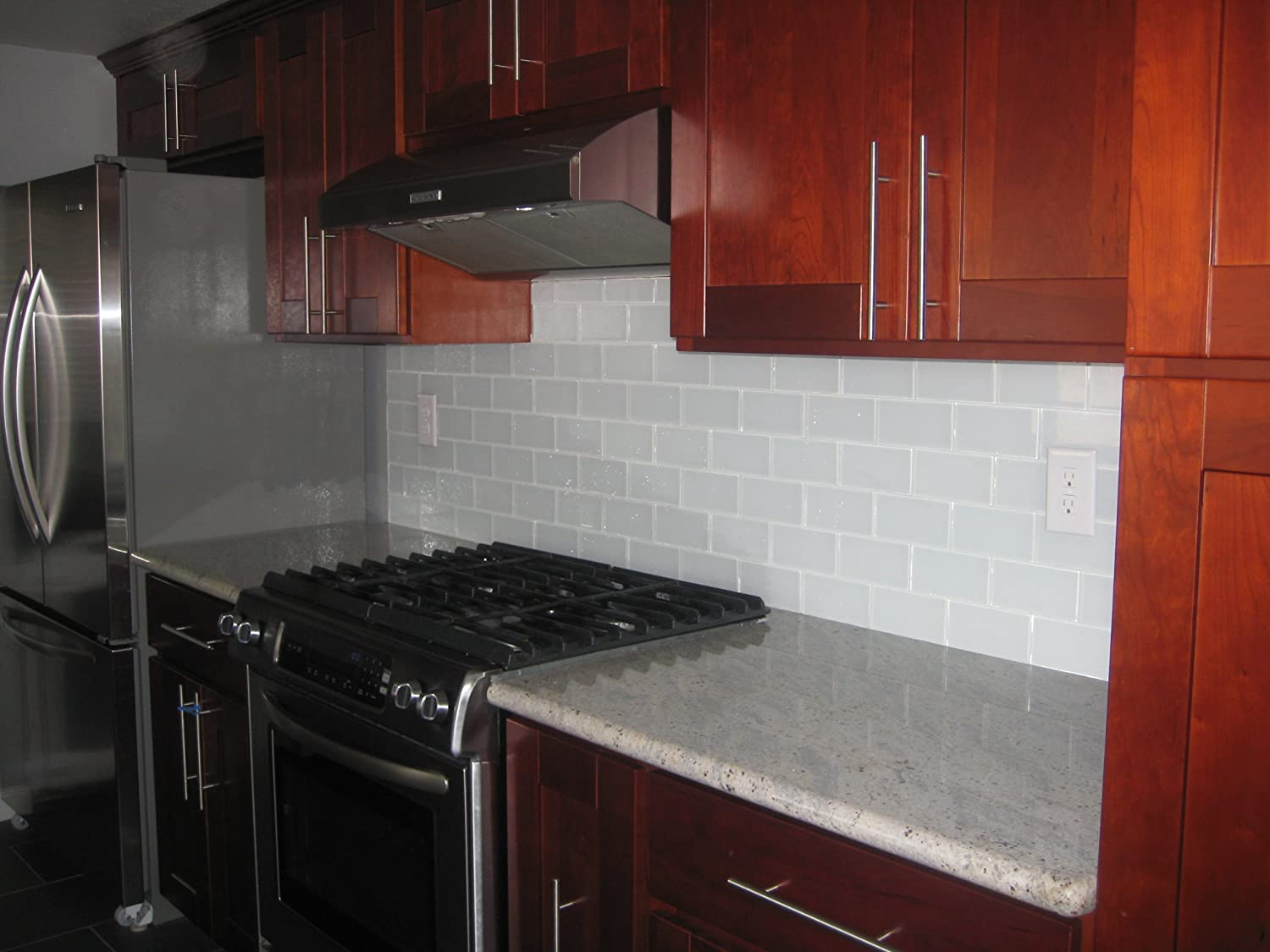 Red subway tile backsplash - Red Subway Tile Backsplash 29