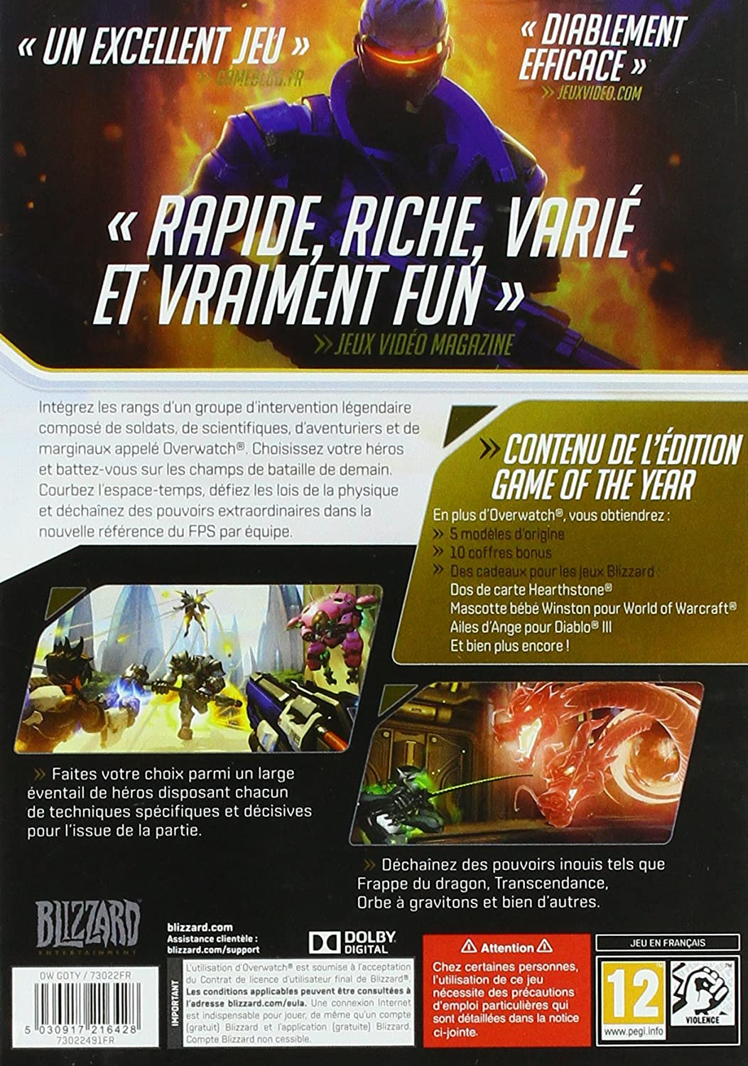 Overwatch - Edition Game Of The Year [Importación francesa ...