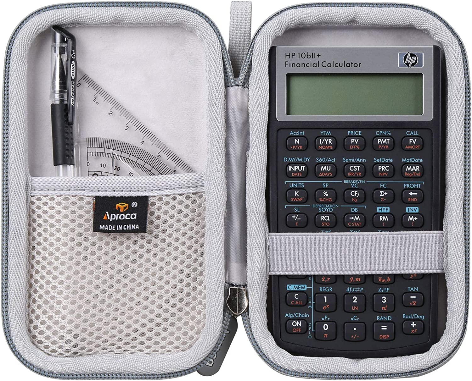 Aproca Hard Storage Travel Carrying Case for HP 10bII+ Financial Calculator
