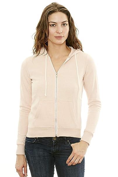 a83f43c2564 Women s Hooded Sweatshirt - Traditional Fit Soft Light Fleece Zip Up Hoodie  - by NYA