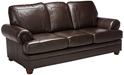 amazon com coaster colton traditional brown leather sofa with rh amazon com elegant leather sofa outlet elegant leather sofa sets