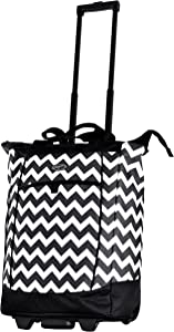 Olympia Fashion Rolling Shopper Tote - Chevron, 2300 cu. in.