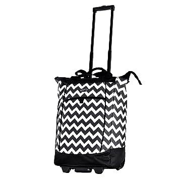 82f8381e11 Amazon.com  Olympia Fashion Rolling Shopper Tote - Chevron