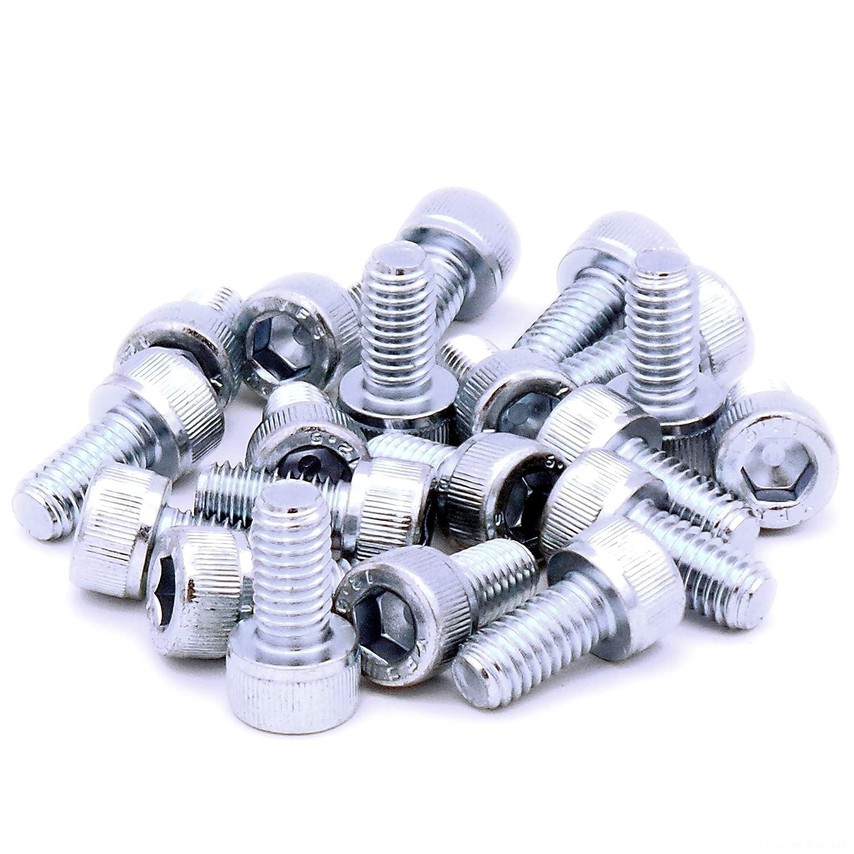 M6 (6mm x 35mm) Hex Socket Head Cap Screw Bolts - Steel (Pack of 20) Singularity Supplies Ltd