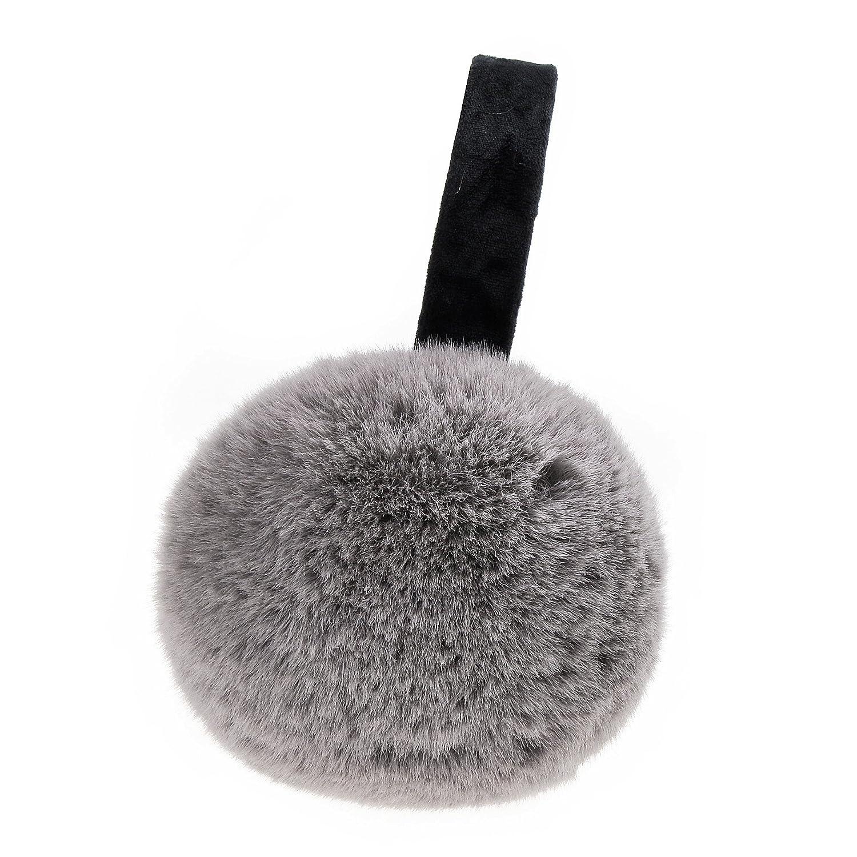 ZLYC Womens Winter Outdoor Faux Fur EarMuffs Foldable Big Ear Warmers