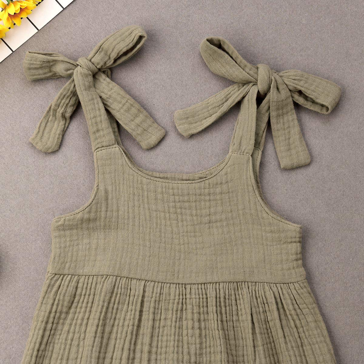 Infant Toddler Baby Girls Boys Sleeveless Strap Romper Jumpsuit Overalls Pants Outfits Summer