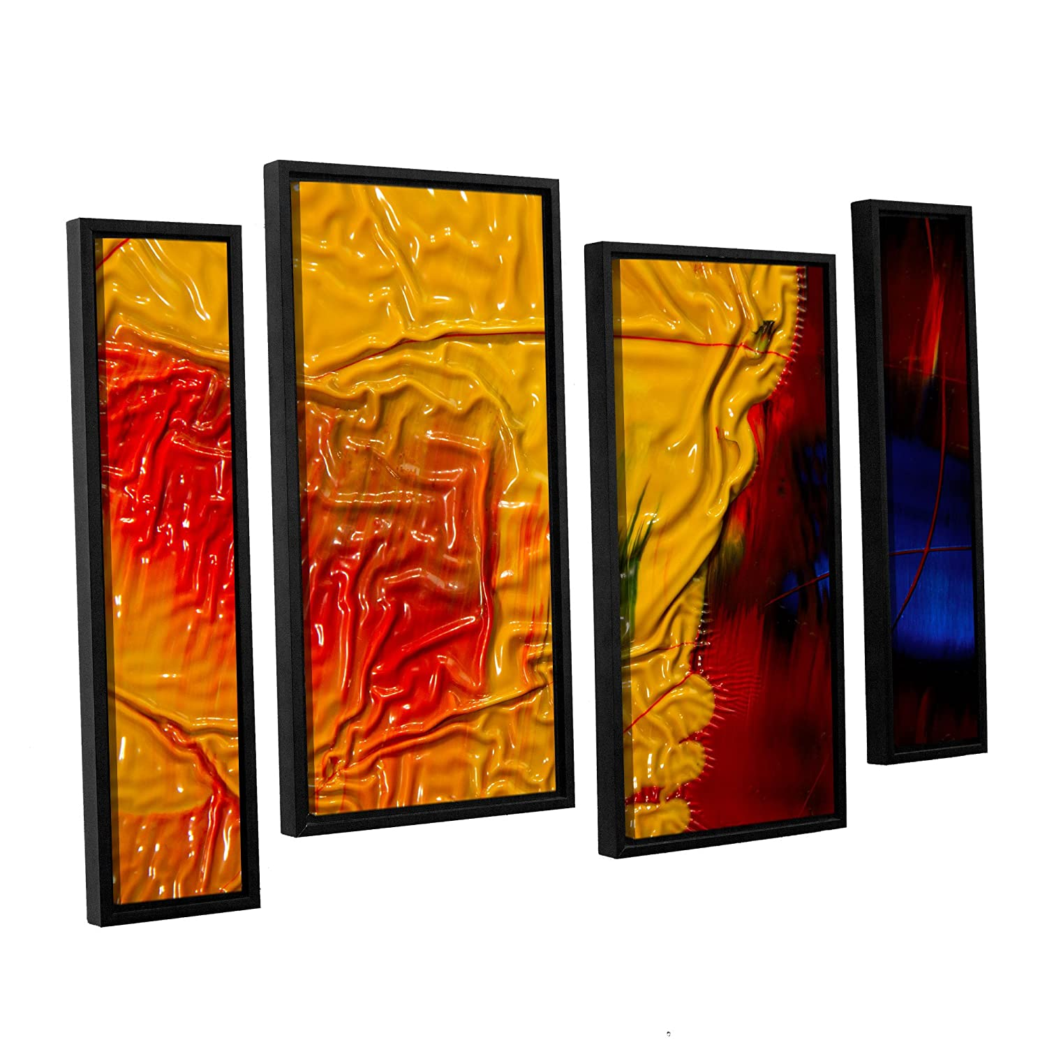 ArtWall 4 Piece Byron Mays The Approaching Storm Floater Framed Canvas Staggered Set 36 x 54