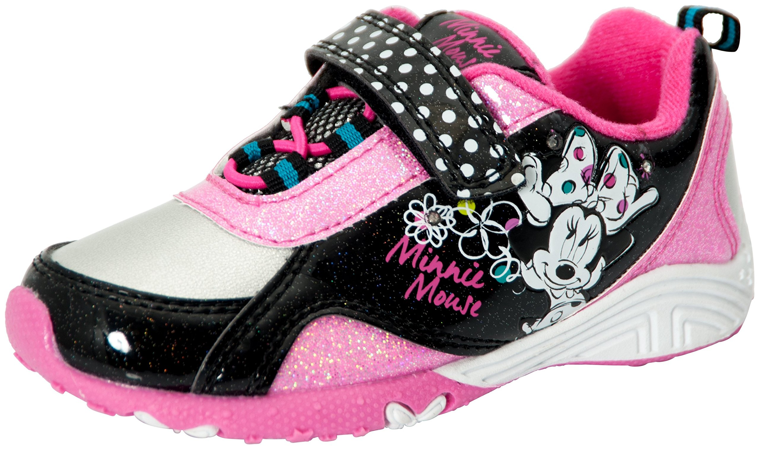 Disney Minnie Mouse Toddler Girls Sneaker Pink/Black (12)