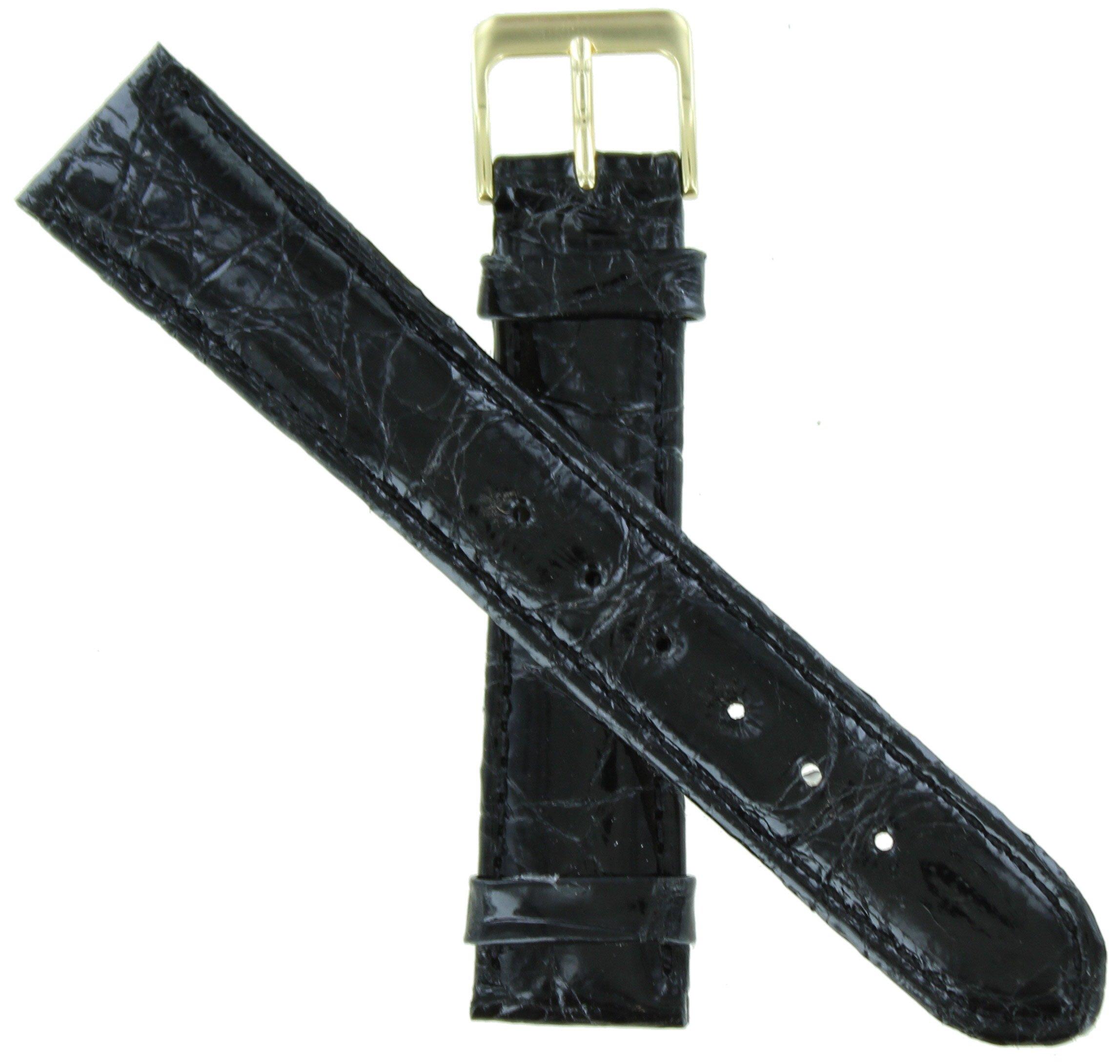 WBHQ 18mm Black 731 Genuine Crocodile Watch band