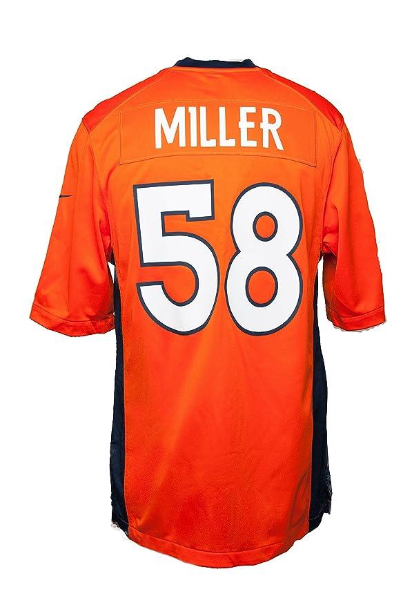 f976972615a Amazon.com : Nike Men's Denver Broncos Vonnie B'Vsean Miller Jersey - Orange  - 3XL : Clothing