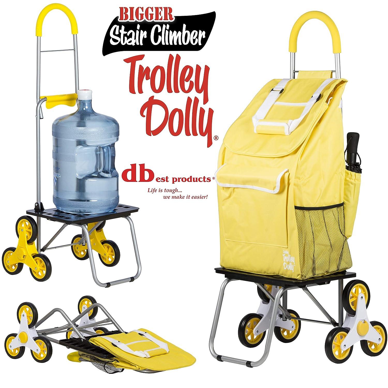298367362607 Stair Climber Bigger Trolley Dolly Shopping Cart, Daisy