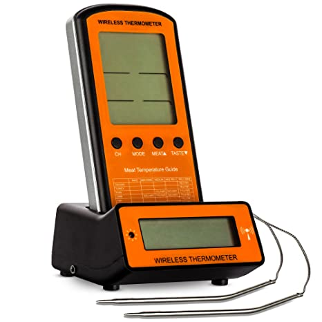 KP Solution Wireless Digital Electronic Meat Thermometer for Cooking, Grilling, Oven, 2 Probes