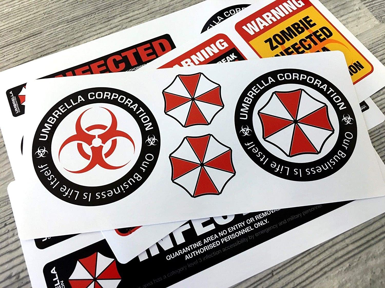 20pcs Umbrella Corporation Resident Evil Infected Zombie Vinyl Sticker Decals