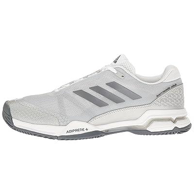 adidas men's barricade club tennis shoes night metallic white black