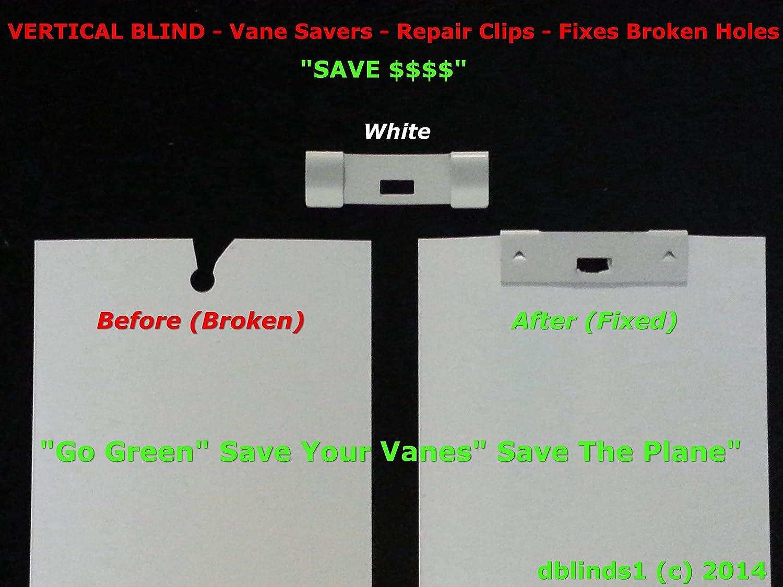 Ivory Set of 12 Vertical Blind Repair Vane Savers