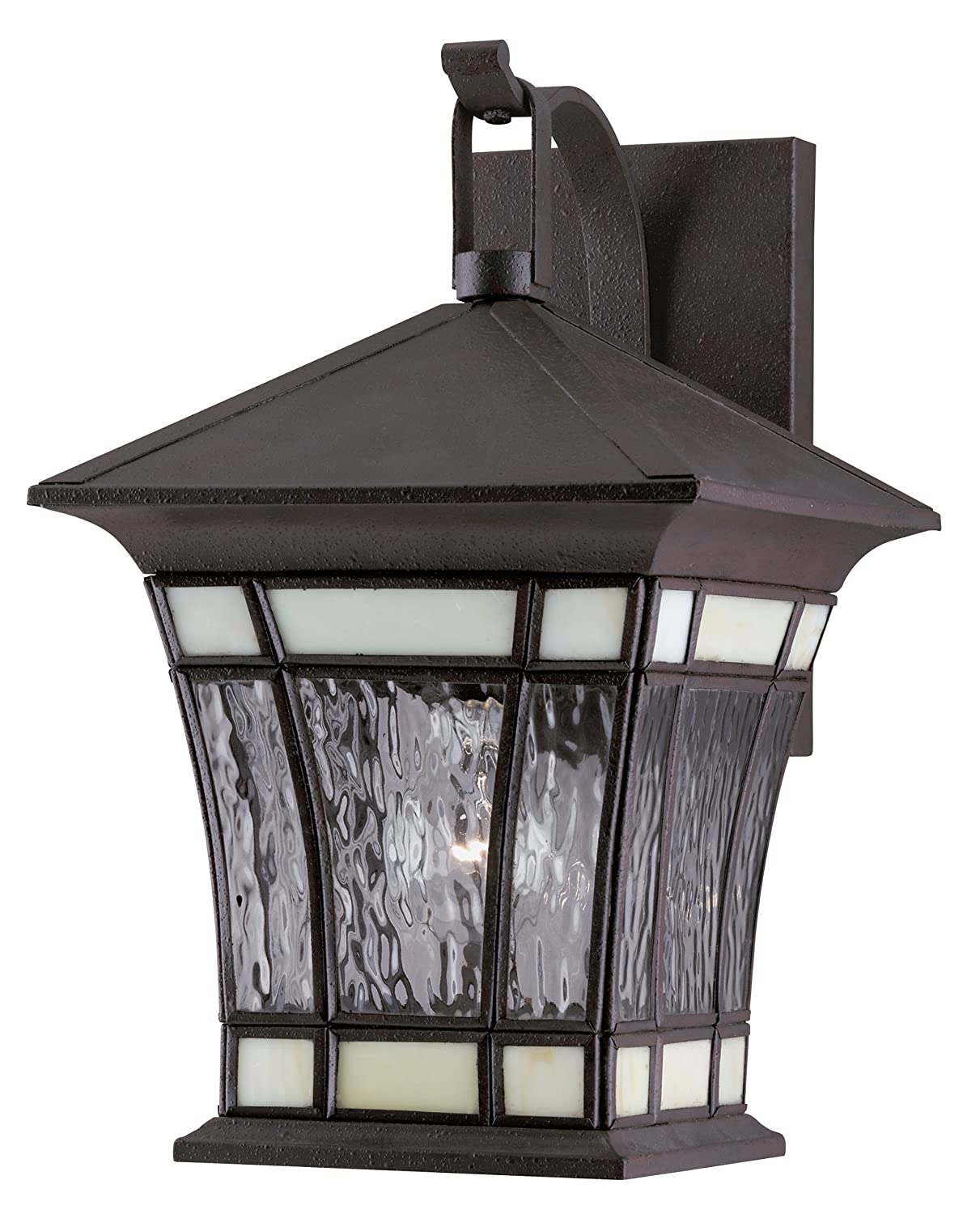 Westinghouse Lighting 6486500 One Light Exterior Wall Lantern  Textured  Rust Patina on Solid Brass and Steel with Water Glass and Tiffany Accents    Wall  Westinghouse Lighting 6486500 One Light Exterior Wall Lantern  . Menards Exterior Lighting. Home Design Ideas