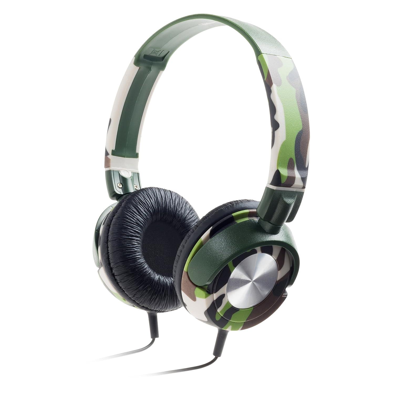 Meliconi HP Style Camouflage Cuffie Dotate di Microfono, Camouflage HP STYLE CAMOUFLAGE Cuffieonear padiglionisalvaspazio qualitàdelsuono risponditore stile