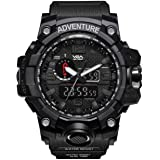 V2A Chronograph Shock Resistant Army Digital Analog Watch with Dual Time Zone and Countdown Timer for Men and Boys
