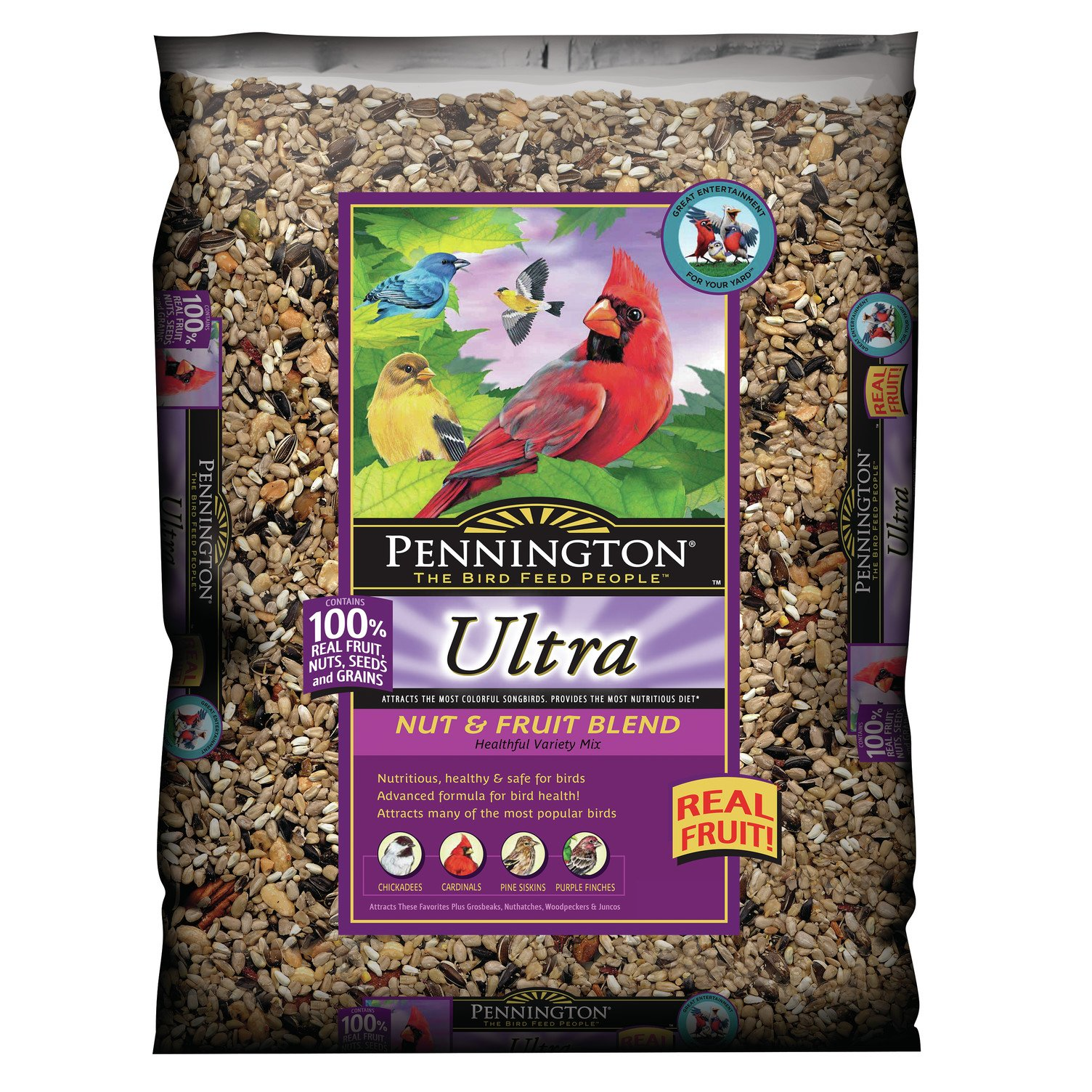 Pennington Ultra Fruit & Nut Blend Wild Bird Seed and Feed, 12 lbs by Pennington