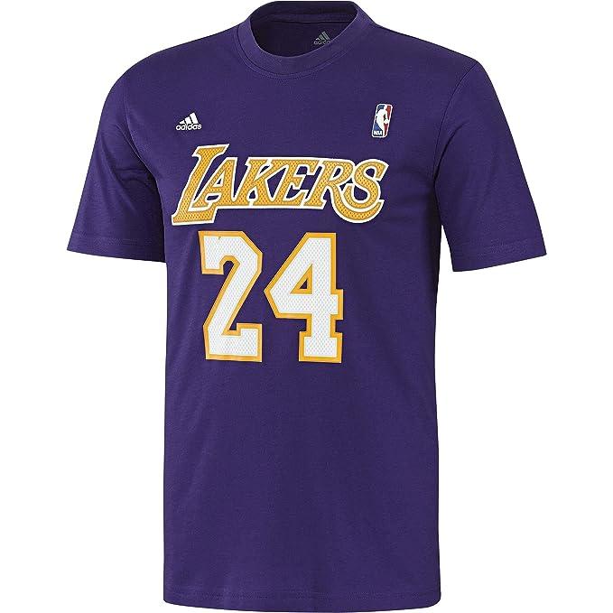 adidas Los Angeles Lakers NBA Camiseta Para Hombre Tiempo de Juego de Pelota de Baloncesto T-Shirt Morado: Amazon.es: Ropa y accesorios