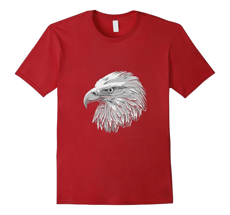 American Bald Eagle T-Shirt, Patriotic Native Indian Tee 3d