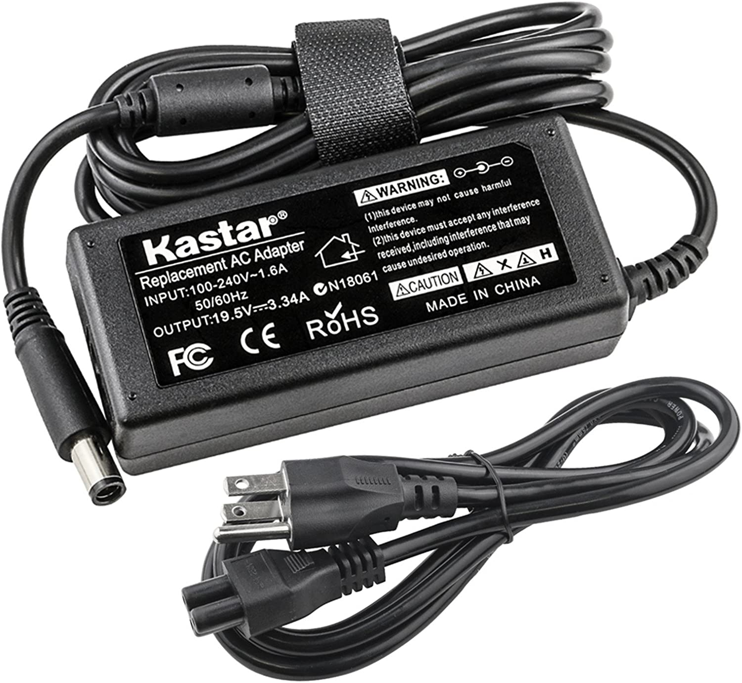 Kastar Replacement AC Adapter for PA-12 Dell Laptop PA-1650-05D2 U7088 F7970 N2765 AA22850 PA-1650-05D 310-4408 1X917 310-2860 5u092 PADL012 Inspriron 300M 500M 505M 510M 600M 630M 640M 700M 710M