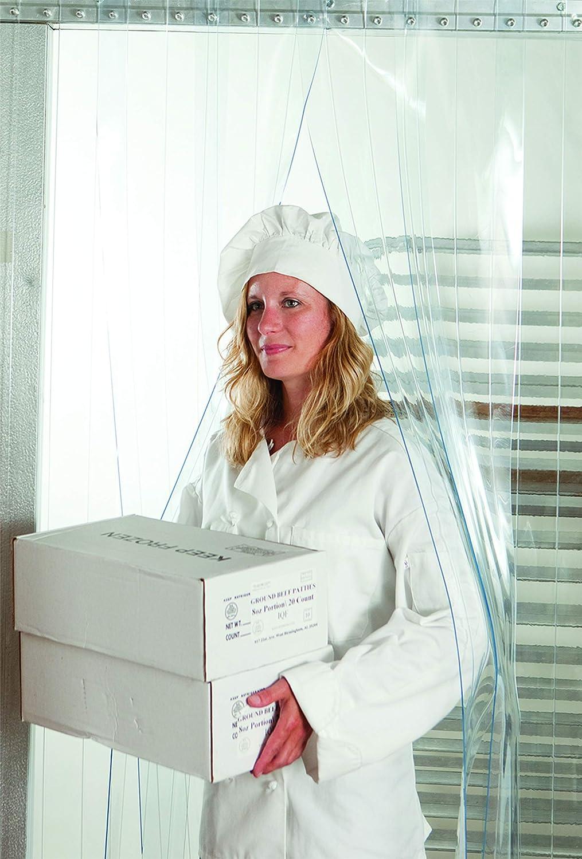 Kason Strip Curtain Kit- 38X84 - Low Temp - Slide-in Strips for Walk-in cooler or Freezer
