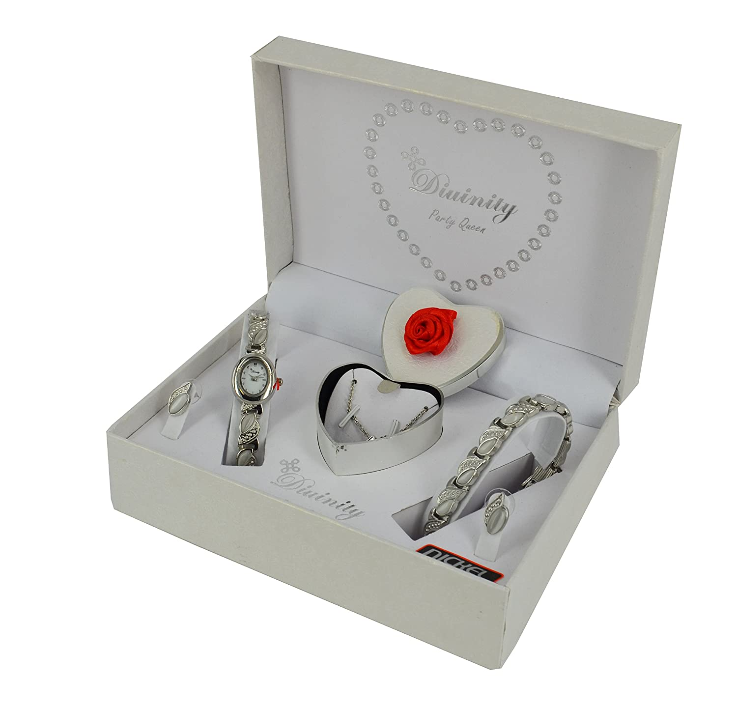 Ladies gift set watch bracelet earings necklace amazon ladies gift set watch bracelet earings necklace amazon watches negle Image collections